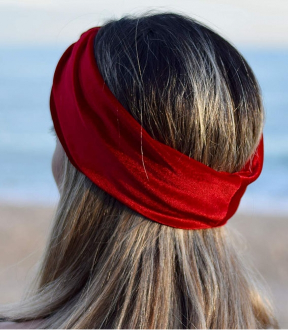 Black cotton scrunchies for women