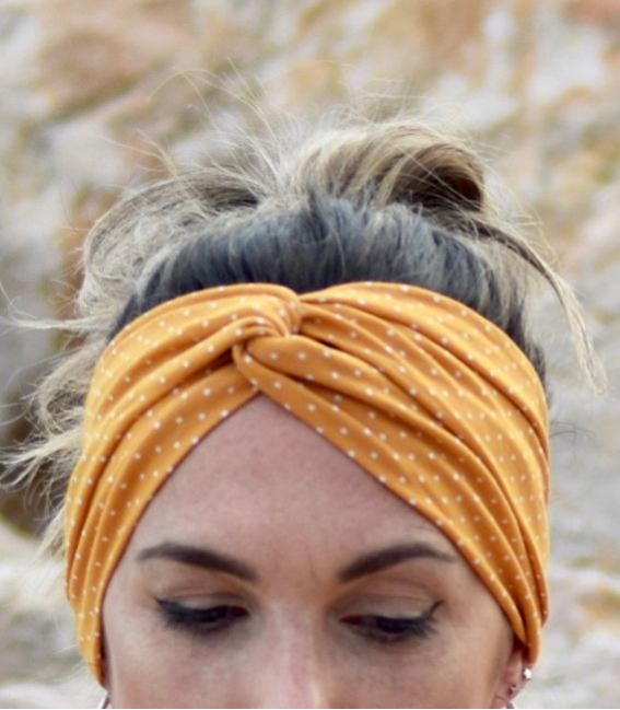 Tropical turban headband with wire