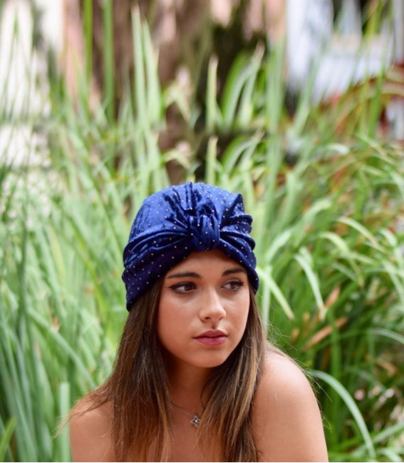 Turbante completo color mostaza
