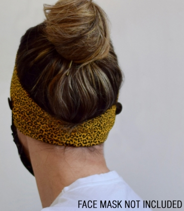Gold ochre velvet turban headband